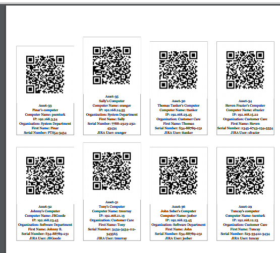 Printing QR Codes And Labels - Assets and Inventory - Confluence