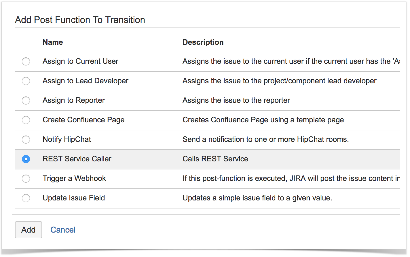 REST Service Caller Post Function - Easy Integrations for JIRA