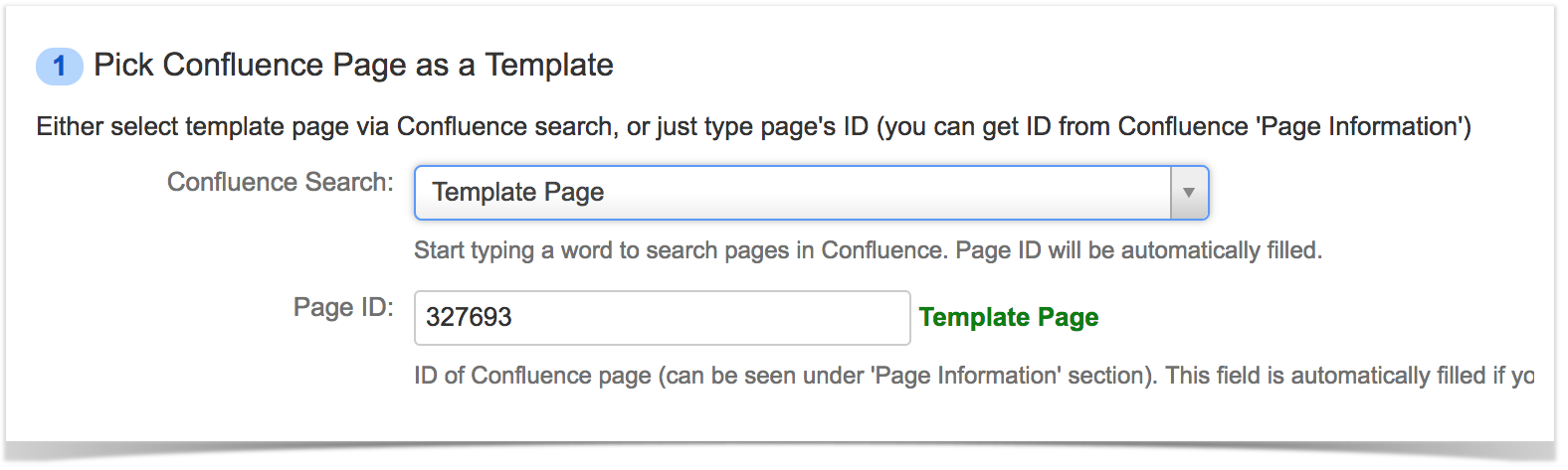 how to create confluence page in jira