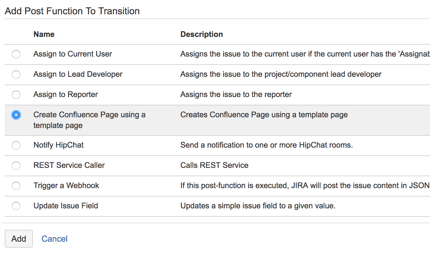Create Confluence Page Post Function Easy Integrations For Jira